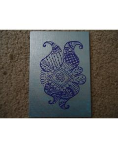 Henna Painting - Blue and Purple