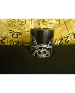 3 in. Painted Candle Black and Silver
