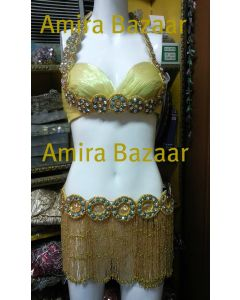 Professional Egytian Belly Dance Bra & Belt (AB024)