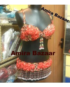 Professional Egytian Belly Dance Bra & Belt (AB028)