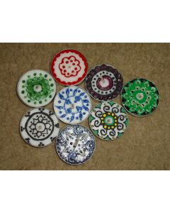 Circular Patterned Tea Lights set of 8