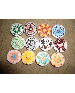Flora Patterned Tea Lights set of 12