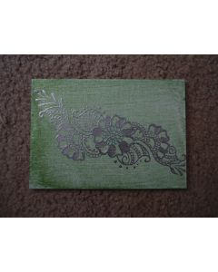 Henna Painting - Green and Sliver