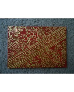 Henna Painting - Red and Gold