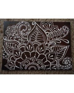Henna Painting - Red and White