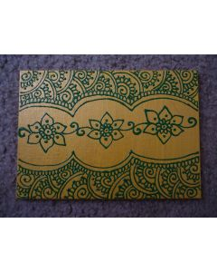Henna Painting (Yellow and Green)