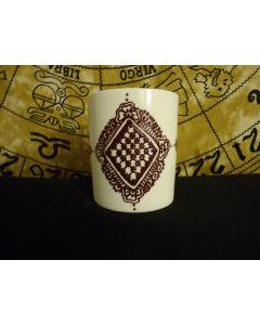Henna inspired hand painted mug