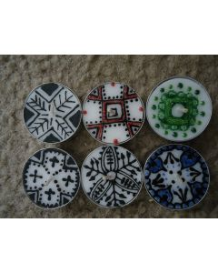 Moroccan Patterned Tea Lights Set of 6